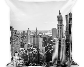 New York City Scape Throw Pillow, 1:100 Limited Edition / cushion / home decor / modern / classy /