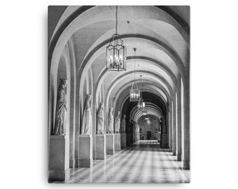 Palace of Versailles Hallway, Paris France Canvas Print, 1:100 Limited Edition / architectural / wall art / home decor