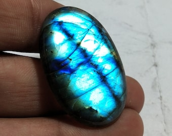 Excellent Top Grade Quality 100/% Natural Spectrolite Labradorite Oval Shape Cabochon Gemstone For Making Jewelry 47.5 Ct 32X24X7 mm Z-1708