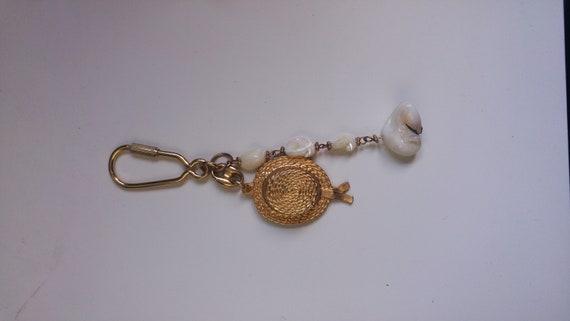 Vintage porte-clé or