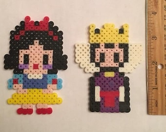 Snow White and the Evil Queen Perler Beads
