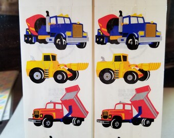 Stickers of Construction Trucks 24 total