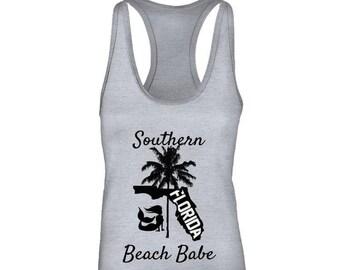 Womens Southern Beach Babes Tank Top