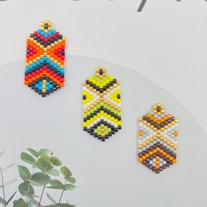 4pcs Miyuki Beaded Bar Rhombus Connector Charm Seed Beads Pendant for Bracelet Earring Necklace DIY Jewery Making components 35X10mm