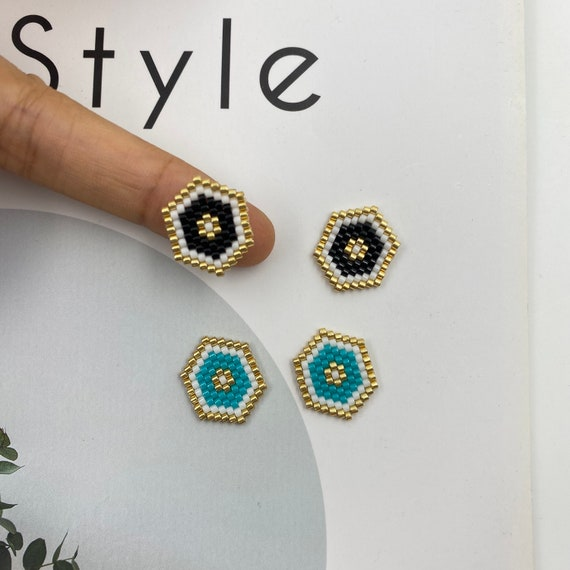 4pcs Miyuki Beaded Crown Connector Charm Seed Beads Pendant for Bracelet Earring Necklace DIY Jewery Making components 16X13mm