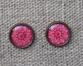 Red ear studs