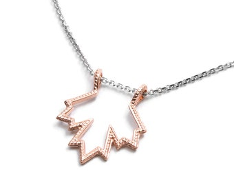 Recycled rose gold 14 k pendant O Canada Maple Leaf