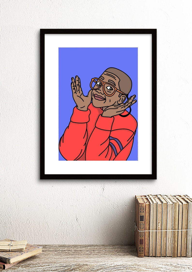 Steve Urkel Family Matters 80s 90s Nostalgia Print Art Work Graphic 1980s  1990s TV Sitcom Jaleel White A5 A4 A3