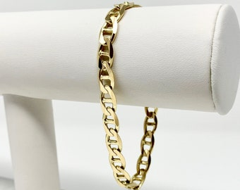 b0ae3ccf7 14k Yellow Gold 14.5g Gucci Anchor Mariner Link Chain Bracelet Italy 7.75