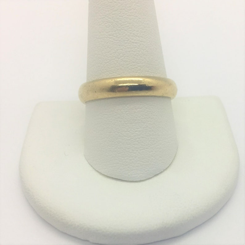 14k Solid Yellow Gold Frederick Goldman Men S Wedding Band Etsy