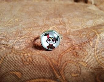 Gothic rabbit ring