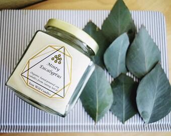 Minty Eucalyptus Soy Candle