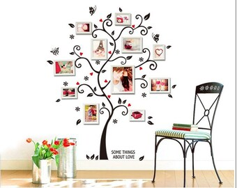 Tree Wall Decal, Living Room Decor, Wall Art, Wall Decoration, Wall Sticker
