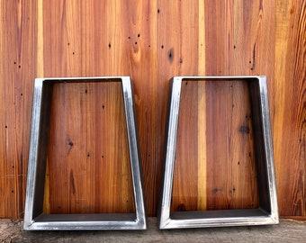 Trapezoid Metal Table Legs - Set of 2 - Modern Industrial Legs