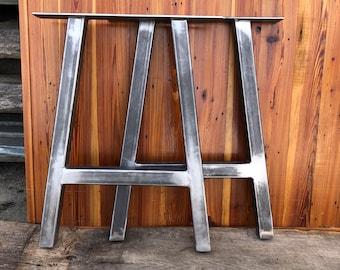 Metal A Frame Table Legs - Set of 2 - Modern Industrial Legs