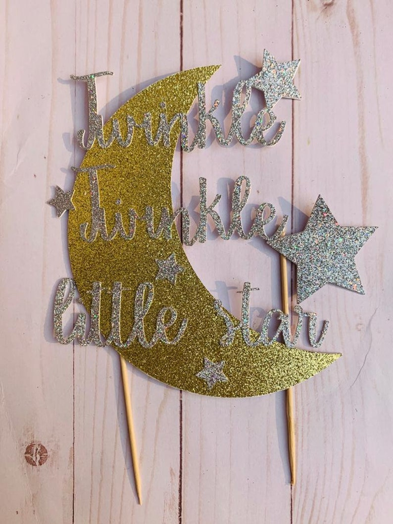 Baby Shower Twinkle twinkle Little Star cake topper Gender Reveal Birthday party deocration