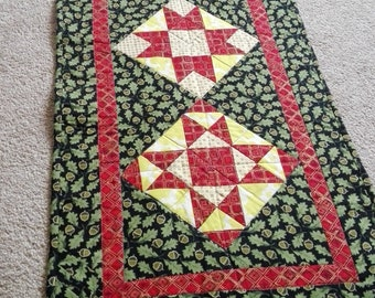 Handmade quilted patchwork table runner