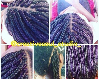 Crochet Box Braids Etsy