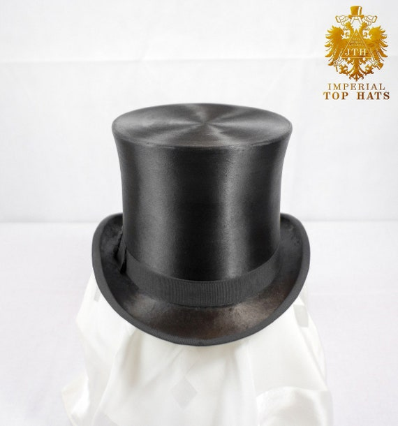 Large Extra Tall Silk Top Hat Size 7 1 4 59  fbdfcd20d6d