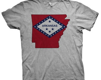 Arkansas State Flag Tee Shirt | Arkansas Tshirt | Arkansas State Flag T Shirt | Arkansas State T-Shirt | MADE IN USA