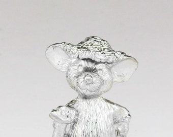 Farm Mouse miniature statue - made on the Isle of Wight
