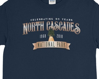 North Cascades National Park, Celebrating 50 Years Long Sleeve T-Shirt