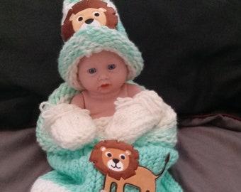 Newborn Baby/Doll  Cocoon Set 4pc