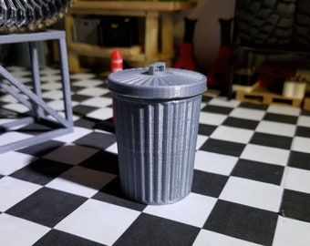 1/10 scale trash can accessory 3d printed