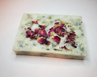 Goats milk and shea butter Rose bud soap