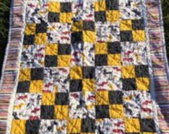 Dog themed baby quilt