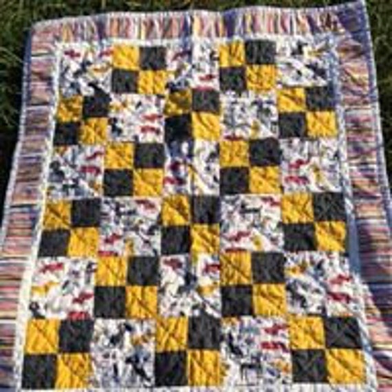 Dog Themed Baby Quilt Etsy