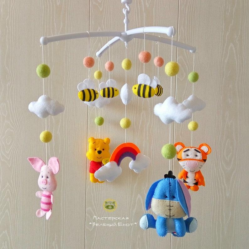 877b73ad0335 Baby Mobile Baby Crib Mobile Felt Mobile Winnie the Pooh