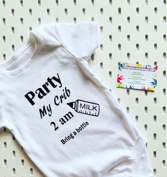 Party At My Crib Funny Toddler Hoodie Sweatshirt