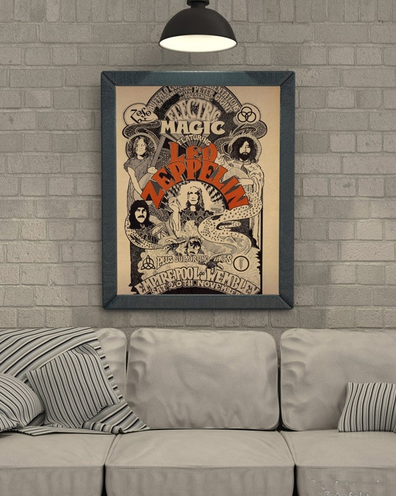 Led Zeppelin 1970\'s Vintage posters canvas printing wall | Etsy