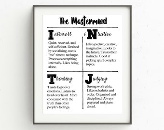 graphic relating to Myers Briggs Test for Students Printable named Persona check Etsy