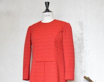 Red vintage dress long sleeves