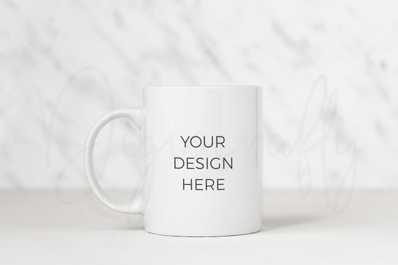 coffee mug mockup marble background psd template styled stock etsy etsy