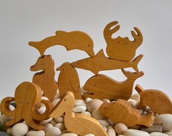 arctic figurine toddler toys Walrus toy Waldorf animals Sea ox toy organic toys Wooden Sea Ox Toy sea animals Handmade wooden toys