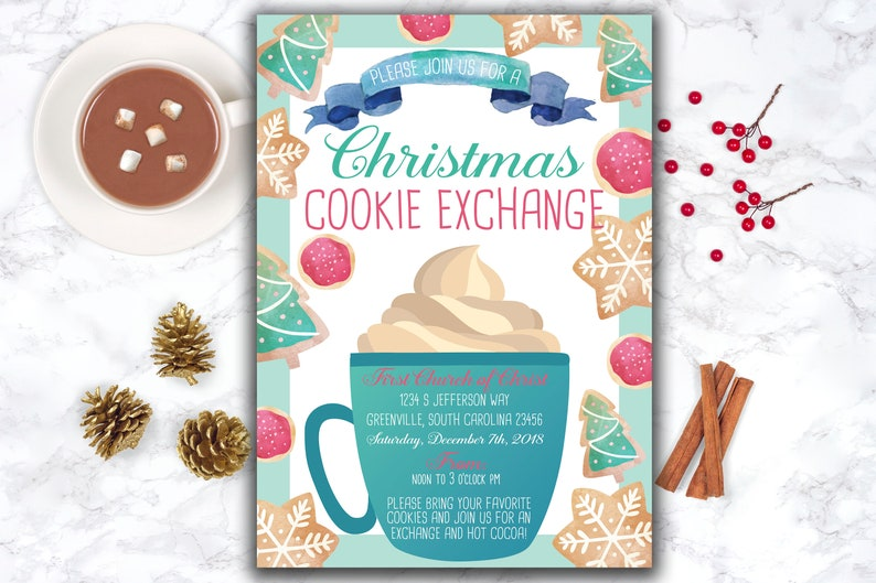 Christmas Cookie Exchange Invitation Cookie Swap Invite Holiday Cookie Exchange Holiday Cookie Swap Holiday Party