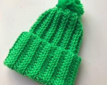 e0118dea916 Bright green beanie