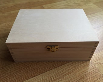 Wood floor and compartments 22X16X8CM box