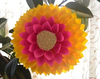 Handmade Paper flower Dalia backdrop