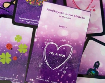 Amethyst Love Oracle - Special LOVE - 52 cards + small leaflet - Love Deck - Special Crush - Trilingual - Self-published