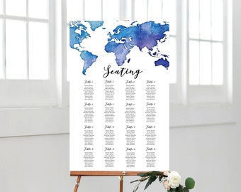 World seating chart etsy editable world map seating chart includes 4 table sizes wedding decor wedding signs destination wedding instant download gumiabroncs Choice Image