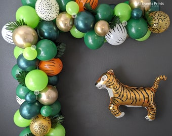 Tigerrr Safari Balloon Garland DIY Kit (5 Ft to 25 Ft), Includes EVERYTHING that you will need for assembly, pump included!