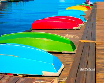 Colorful Rowboats, Interior Design Downloads