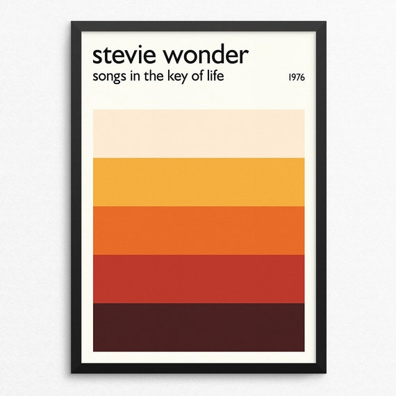 Stevie Wonder Songs In The Key Of Life Giclee Canvas Album Picture Art