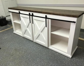 barn door TV unit