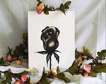 Warm Brown Rose Canvas -