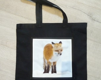 Fox tote, resuseable bag, Fox shoulder bag, Foxes,Bags, Woodland animal, shopping bag